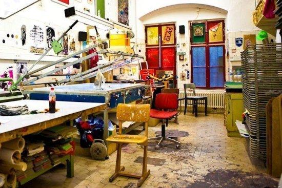Die Siebdruckwerkstatt im Künstlerhaus