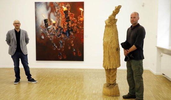 NN-Kunstpreis 2020, 1. Preis Stefan Schindler und 2. Preis Johannes Vetter (li)
