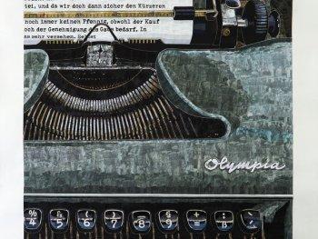 Marcel Odenbach, im Land der Dichter und Denker, 2019, Collage