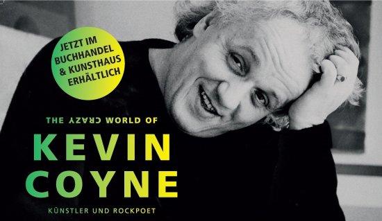 Covermotiv der Monographie The Crazy World of Kevin Coyne mit Hinweis Jetzt erhältlich