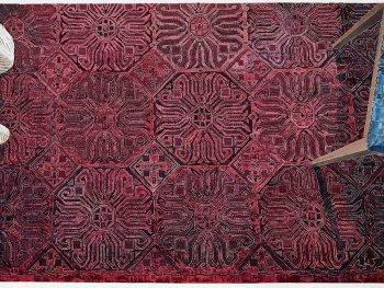 Die Collage von Marcel Odenbach zeigt einen Fußboden aus der ehemaligen Stasi-Zentrale.