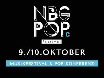 Logo mit schriftzug Nürnber Pop Festival 2020