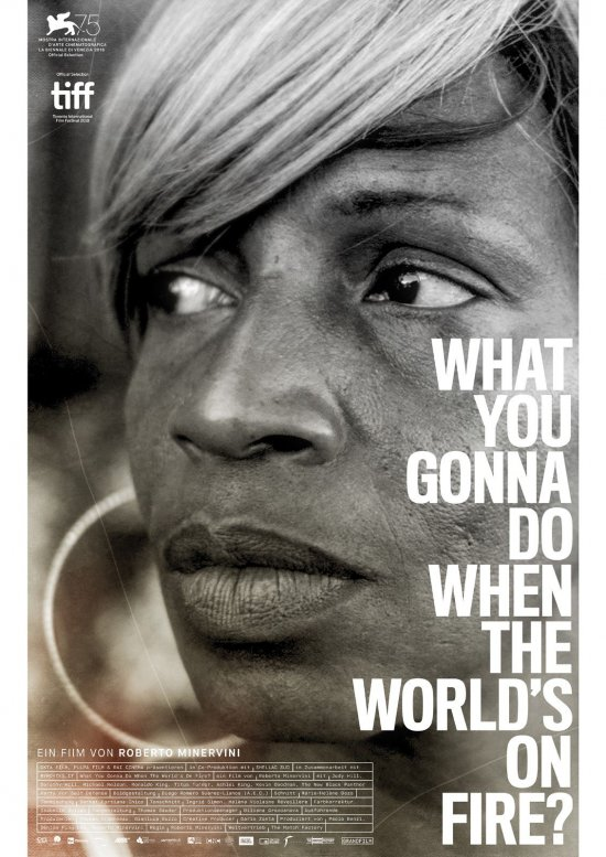 Filmplakat zu WHAT YOU GONNA DO WHEN THE WORLD'S ON FIRE?