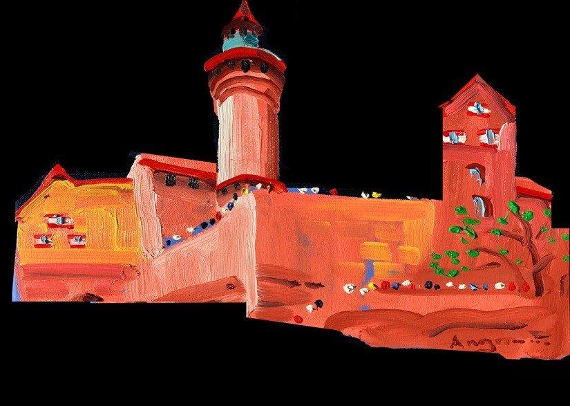 Simulation der Burgprojektion 2021 von Peter Angermann.