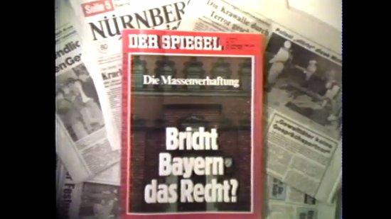 Filmszene aus GOTT MIT DIR DU LAND DER BAYERN - ODER DIE 141 VON NÜRNBERG