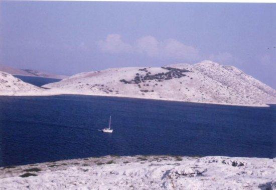 Ein Segelboot auf der Adria