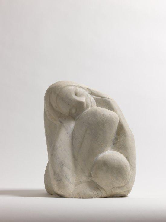 Träumendes Mädchen, 1954, Sammlung Kunstvilla, Sammlung Kunstvilla