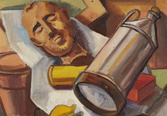 Georg Hetzelein, Stillleben mit Ölkanne, 1932/1933, Sammlung Kunstvilla
