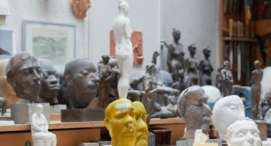 Im Atelier von Wilhelm Uhlig, 2021