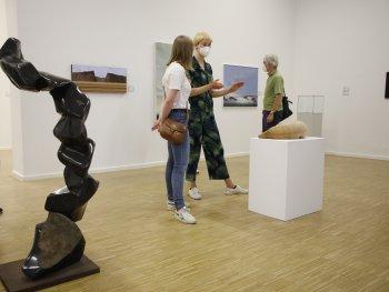 Blick in die Ausstellung Kunstpreis der Nürnberger Nachrichten 2020