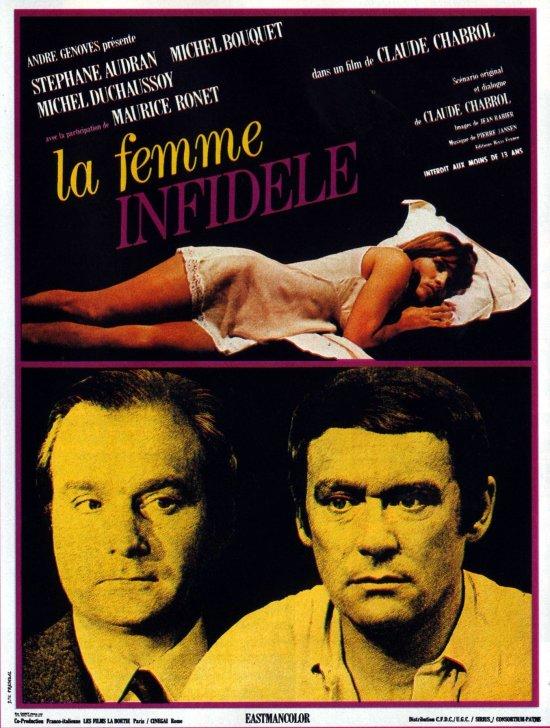 Französisches Filmplakat zu DIE UNTREUE FRAU
