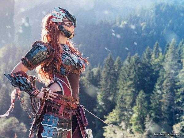 Svetlana Quindt als Aloy aus dem Computerspiel Horizon Zero Dawn