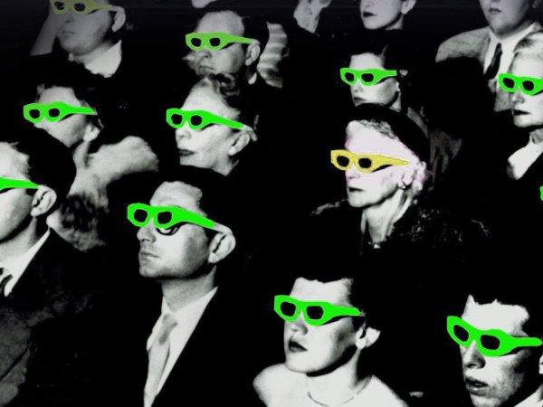 Menschen mit 3D Brillen