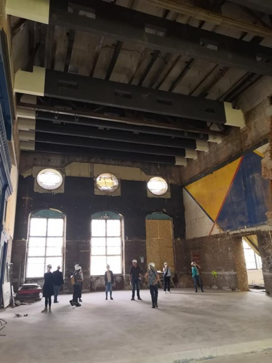 Baustellenbegehung Künstlerhaus