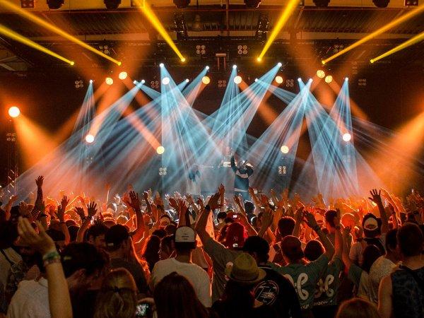 Konzert in einem Musikclub